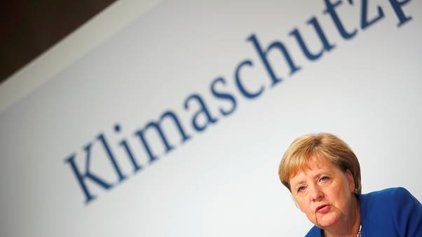 Angela Merkel habla durante una conferencia de prensa en el Futurium de Berlín, Alemania, el 20 de septiembre de 2019.