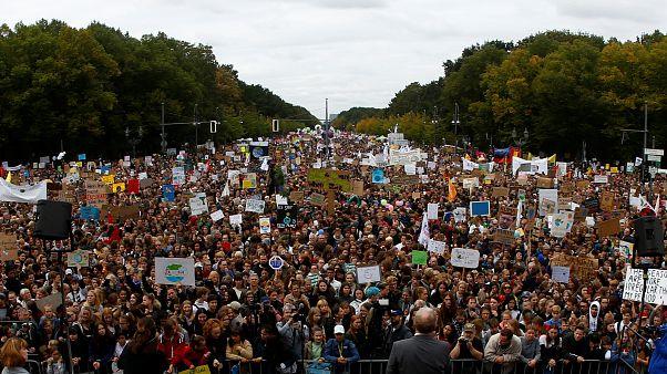 Protesta contra el cambio climático en Berlin