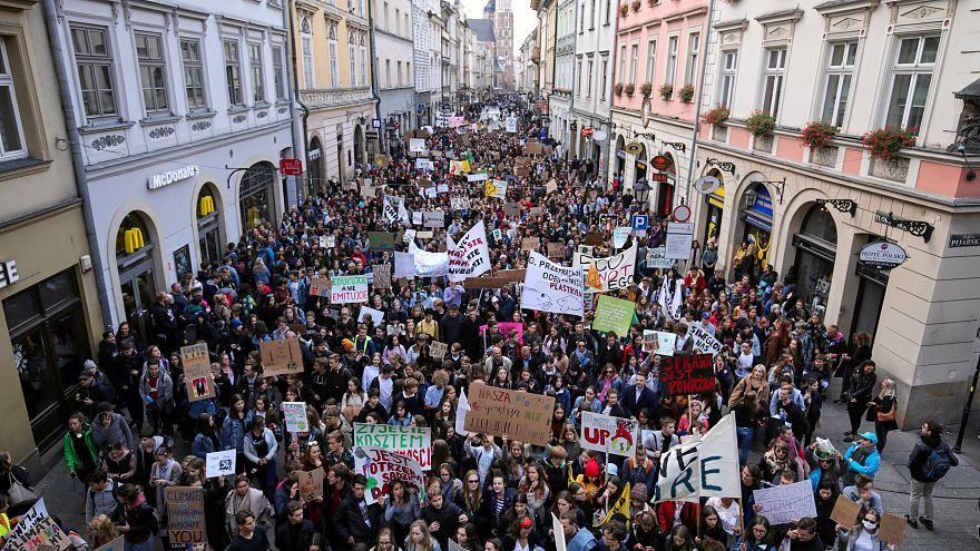 Mundo em protesto contra crise climática