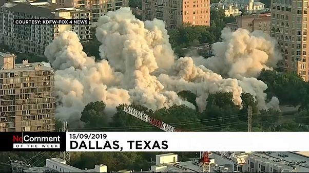 گلچین ویدئوهای هفته؛ از ماساژ با «حوله آتشین» تا تخریب ساختمان در دالاس