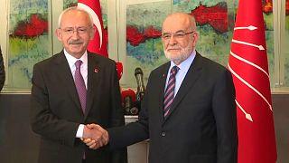 CHP Genel Başkanı Kemal Kılıçdaroğlu / Saadet Partisi Genel Başkanı Temel Karamollaoğlu
