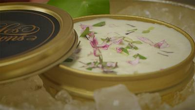 Chef Thierry Voisin's Yellowtail in whipped cream
