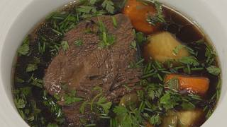 Chef Thierry Voisin's beef cheek pot-au-feu with Soy Sauce