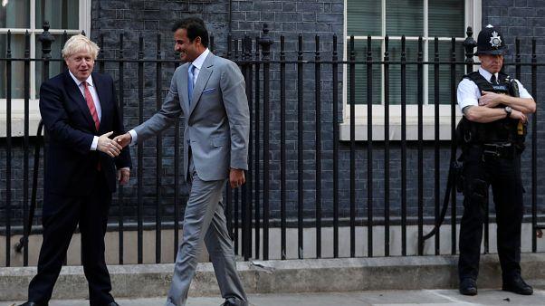 بوریس جانسون و امیر قطر پیرامون حمله به آرامکو در لندن گفتگو کردند