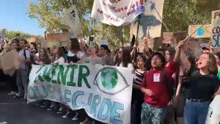 Πορεία κατά της κλιματικής αλλαγής και στη Λυών
