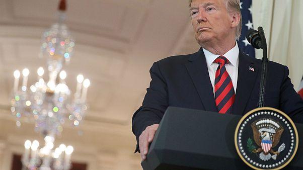 الرئيس الأمريكي دونالد ترامب في البيت الأبيض في واشنطن، الولايات المتحدة الأمريكية، 20 سبتمبر 2019