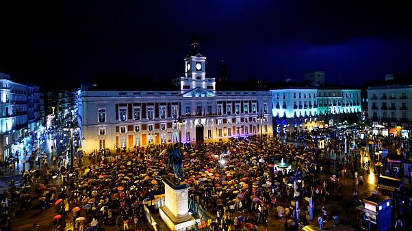 تجمع مدافعان حقوق زنان در مادرید در اعتراض به افزایش خشونتهای خانگی