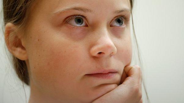 Sixteen year-old Swedish climate activist Greta Thunberg.