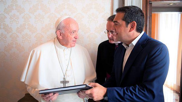 Συνάντηση Τσίπρα με τον Πάπα Φραγκίσκο