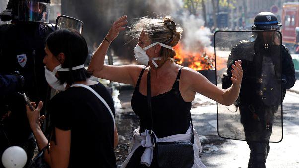 Επεισοδιακή η διαδήλωση για το κλίμα στο Παρίσι