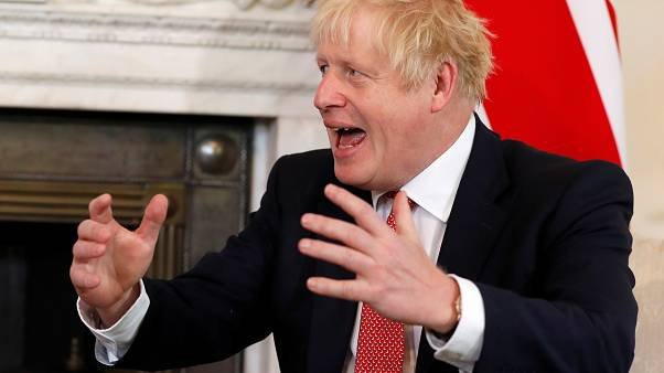 Britain's Prime Minister Boris Johnson during a meeting at Downing Street in London, Britain September 20, 2019