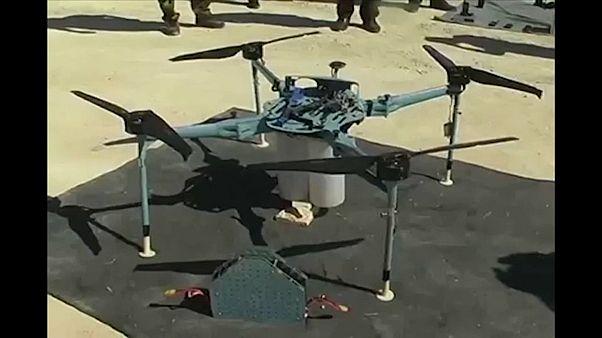 """شاهد: سوريا تسقط طائرة مسيرة ثانية في 48 ساعة وتحمل """"قنابل عنقودية"""""""