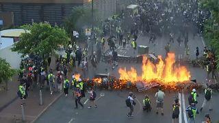 Nouvelle journée de mobilisation sous tension à Hong Kong