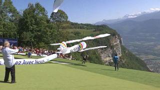 Harry Potter ou Darth Vader nos céus dos Alpes franceses
