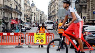 Journée sans voiture à Paris et Bruxelles
