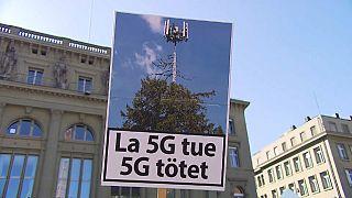 احتجاجات كبيرة في سويسرا ضد تكنولوجيا شبكة الجيل الخامس للاتصالات