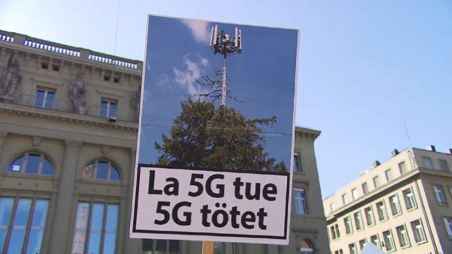 Proteste gegen 5G in der Schweiz