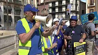 Protesta en España de británicos contra el Brexit