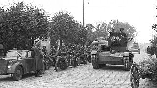Вермахт и Красная армия на улицах Брест-Литовска 22 сентября 1939