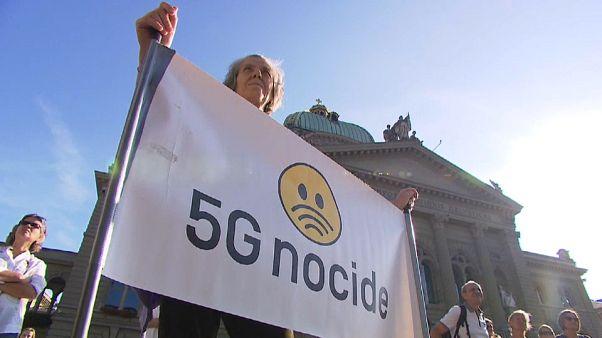 Suisse : manifestation contre la 5G