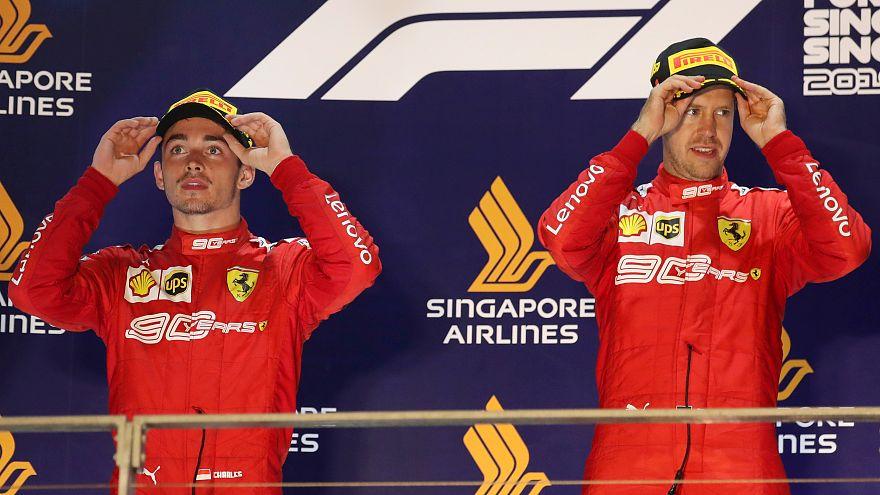 Termina la 'sequía' de Vettel para firmar el primer doblete de Ferrari en dos años