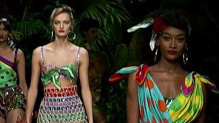 La giungla di D&G alla settimana della moda di Milano