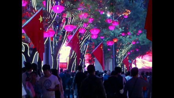 Lo sfarzo delle luci per i 70 anni della repubblica popolare cinese