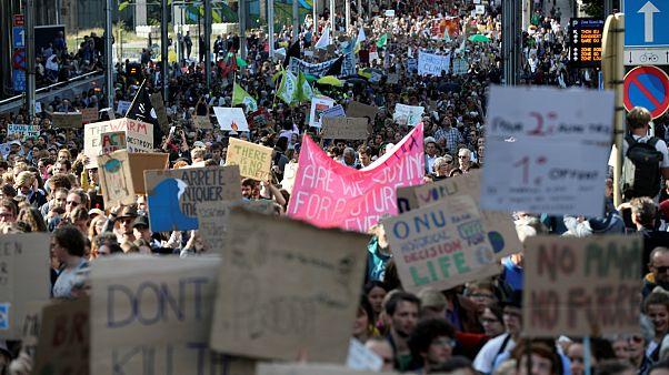 Fim de semana de manifestações pelo clima termina com Domingo sem carros em Bruxelas