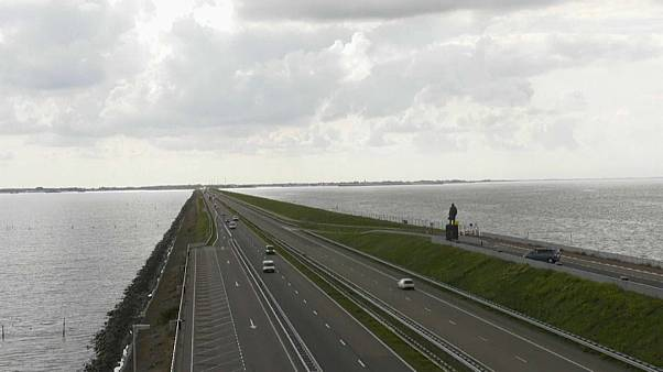 The Afsluitdijk is a major sea defence and motorway separating the provinces of North Holland and Friesland