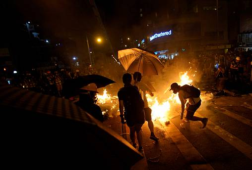 Police fire pepper spray in latest unrest in Hong Kong