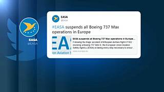 European Aviation Safety Agency grounds all Boeing 737 MAX aircraft