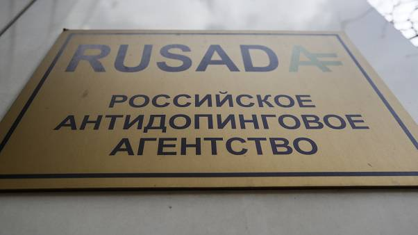 The office of Russian Anti-Doping Agency (RUSADA) in Moscow