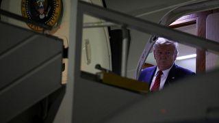 Donald Trump a su llegada al aeropuerto JFK de Nueva York
