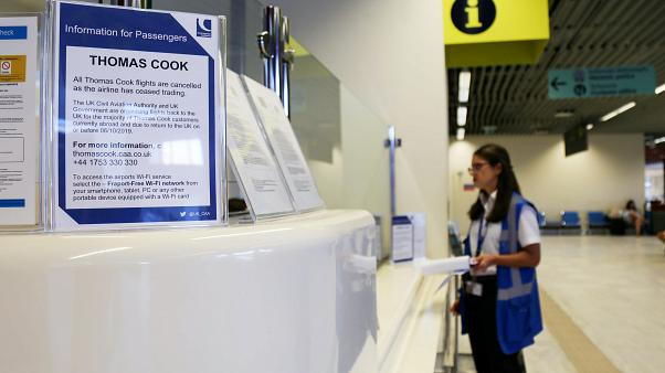 Ενημερωτικό σημείωμα της Thomas Cook στο αεροδρόμιο των Χανίων