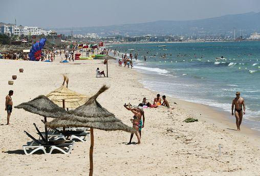 شاطىء الحمامات في تونس