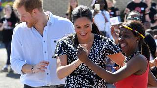 Meghan and Harry show off their dance moves on South African tour