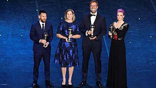 Lionel Messi, Jill Ellis, Jurgen Klopp e Megan Rapinoe destacados em Milão