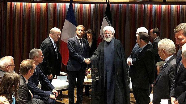 دیدار روحانی و ماکرون در حاشیه نشست مجمع همگانی سازمان ملل در نیویورک