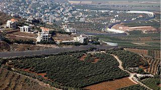 منظر علم لقرية العديسة اللبنانية- أرشيف رويترز