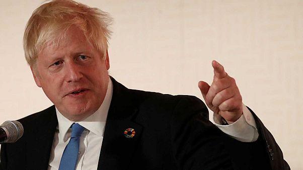 Archive. Le Premier ministre britannique Boris Johnson, après le sommet des Nations Unies sur le climat, New York, le 23 septembre 2019.