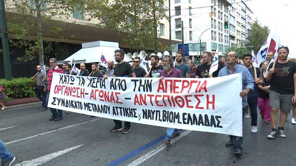 Всеобщая забастовка в Греции - первая при новом правительстве