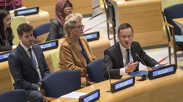 Szijjártó az ENSZ nyilatkozatban nem szereplő dolog ellen küzd
