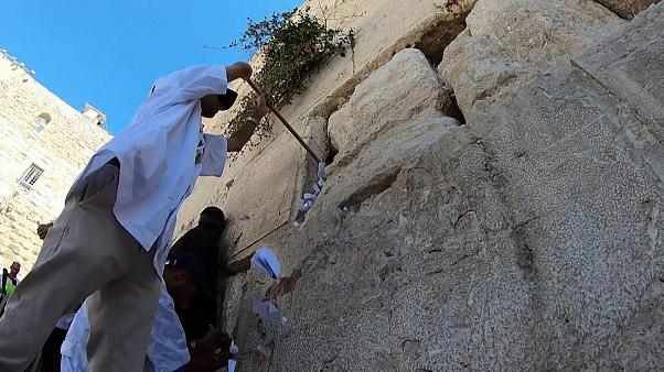 Cleaning operation at Western Wall in Jerusalem