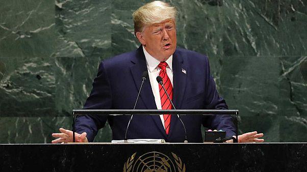 Le président américain Donald Trump, à la tribune de la 74e session de l'Assemblée générale des Nations unies à New York, le 24 septembre 2019.