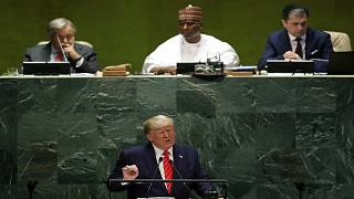 دونالد ترامب يتوجه بخطاب أمام الجمعية العامة للأمم المتحدة في نيويورك في دورتها 74. لوكاس جاكسون/رويترز
