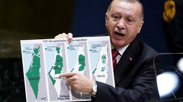 """BM'de konuşan Erdoğan'dan ABD, Rusya ve İran'a Suriye'deki """"güvenli bölgeye"""" destek çağrısı"""