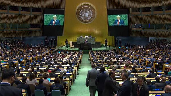 Dossiers brûlants à la tribune de l'ONU, Macron espère encore une rencontre Trump-Rohani