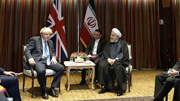 جانسون در دیدار با روحانی: نگران اقدامات تنشزای ایران در منطقه هستیم
