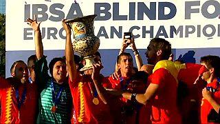 España gana por octava vez el europeo de fútbol para invidentes