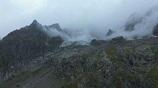 Sorge um Gletscher am Mont Blanc